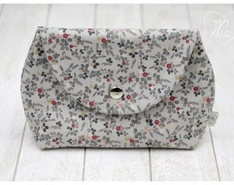 Cosmetic bag for baby dummies make up powder hygiene products cream tissues grey red black white - ILA - isn't life amazing