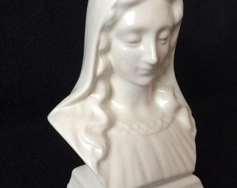 Virgin Mary ceramic bust