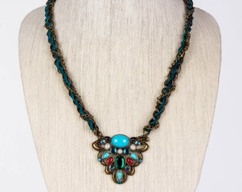Fall Inspired Statement Necklace