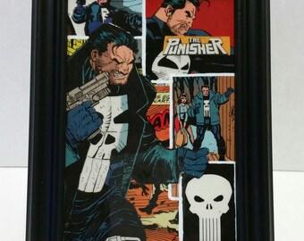 "Punisher 4x6"" Comic Collage Portrait"