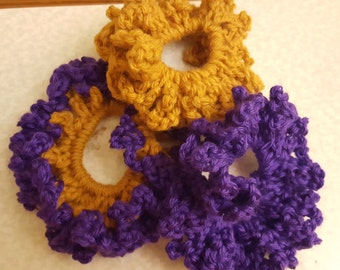 Crochet Hair Scrunchie Elastic Band