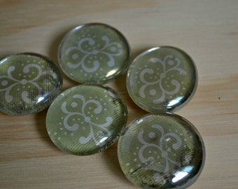 Decorative Glass Pebble Magnet set of 5