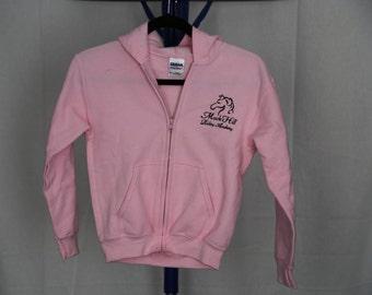 youth girl's pink full zip sweatshirt hoodie Small, Medium, Large