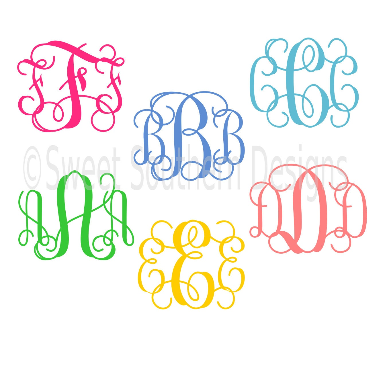 interlocking vine monogram font script cursive font svg dxf instant download design for cricut
