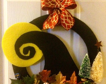 A Nightmare before Christmas wreath