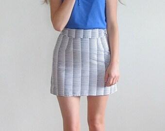 Black Skirt, White Skirt, A Line Skirt, Print Skirt, Short Skirt, Mini Skirt, Small Skirt