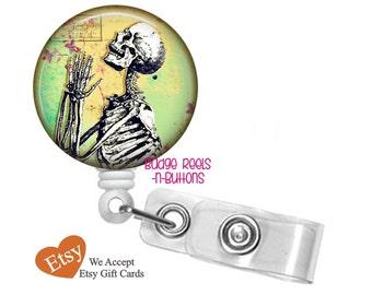 Badge Reel Holder - Anatomical Skeleton Retractable ID Badge Reel – Xray Tech Badge Reel - Radiologist RN Badge Reel - Radiology Reel 0050