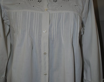 Pretty blouse white year 1950