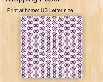 Letter sized wrapping paper - Jamberry - Digital PDF file