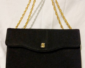 After Five Black Evening Bag with Gold Chain Strap - Like New!