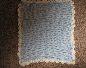 Baby Blue Teddy Bear Blanket