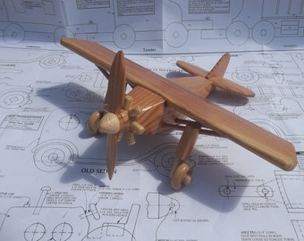 Spirit of St. Louis model airplane in cedar