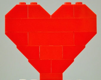LEGO Heart Red, Valentines Day, Wedding