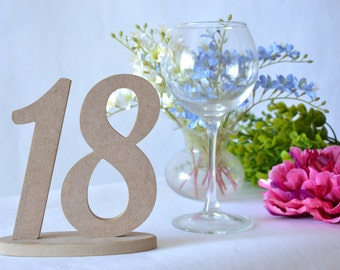 Table numbers Set 1-18 Wooden numbers Wedding table numbers Wedding wooden numbers Wooden table decor DIY table numbers Wedding decor