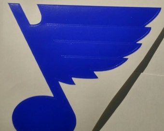 St. Louis Blues Hockey Decal - permanent vinyl - perfect for car windows, Yeti/Rtic cups, coolers etc. Decal only. Father's day gift idea!
