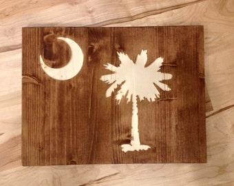 South Carolina State Flag Wall Art