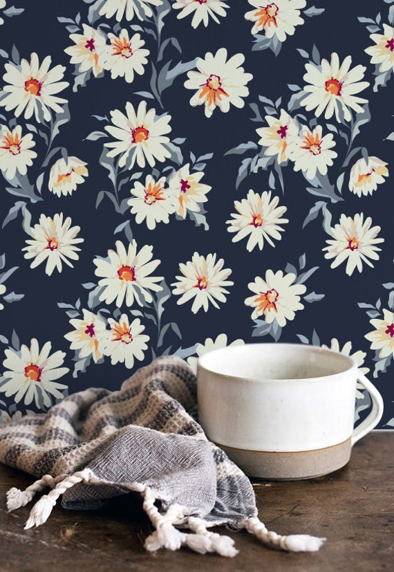 Daisy pattern wallpaper - photo#37