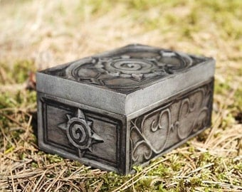 Hearthstone Gift Box for Cards, Jewel. Concrete Stone Handmade.