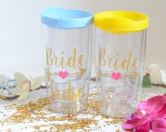 Bride Tribe Tumbler, Bride Tribe, Bridesmaid gift, Engagement Bridal Party, Bridesmaid gifts, Wedding Tumbler, Bride Tumbler, Bachelorette