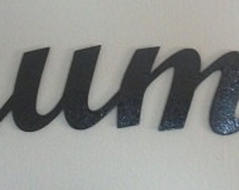 Custom Made Metal Name Sign