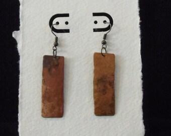 Brass Patina earrings