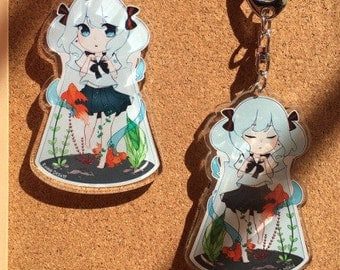 "3"" Bottle Miku Acrylic Charm (double sided)"