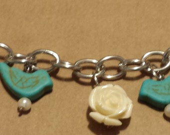 Flower and Bird Bracelet