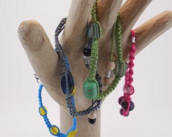 Macrame & Beads Stackable Bracelets