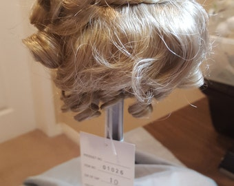 Final Sale --Beautiful Blonde Doll Parts Wig-Curly Wig with Cute Braid