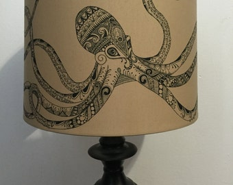 Hand Drawn Octopus Lamp
