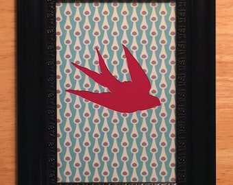 Framed Bird Silhouette