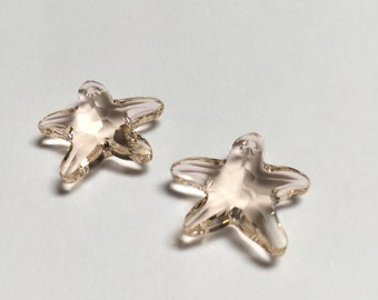 Swarovski Crystal Starfish Pendant 16 MM Silk - 2 Pieces - CB034