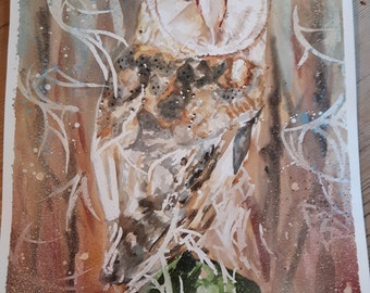 Owl - Original Watercolour Painting