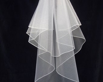 Wedding Veil -Fine Pencil Edge - UK MADE - All sizes - best quality - best prices !