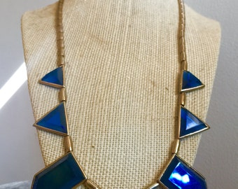 Italian Blue Glass Necklace