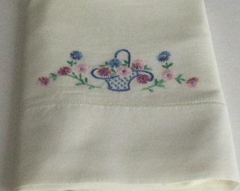 Vintage Needlepoint Standard Craft Pillowcase (1)