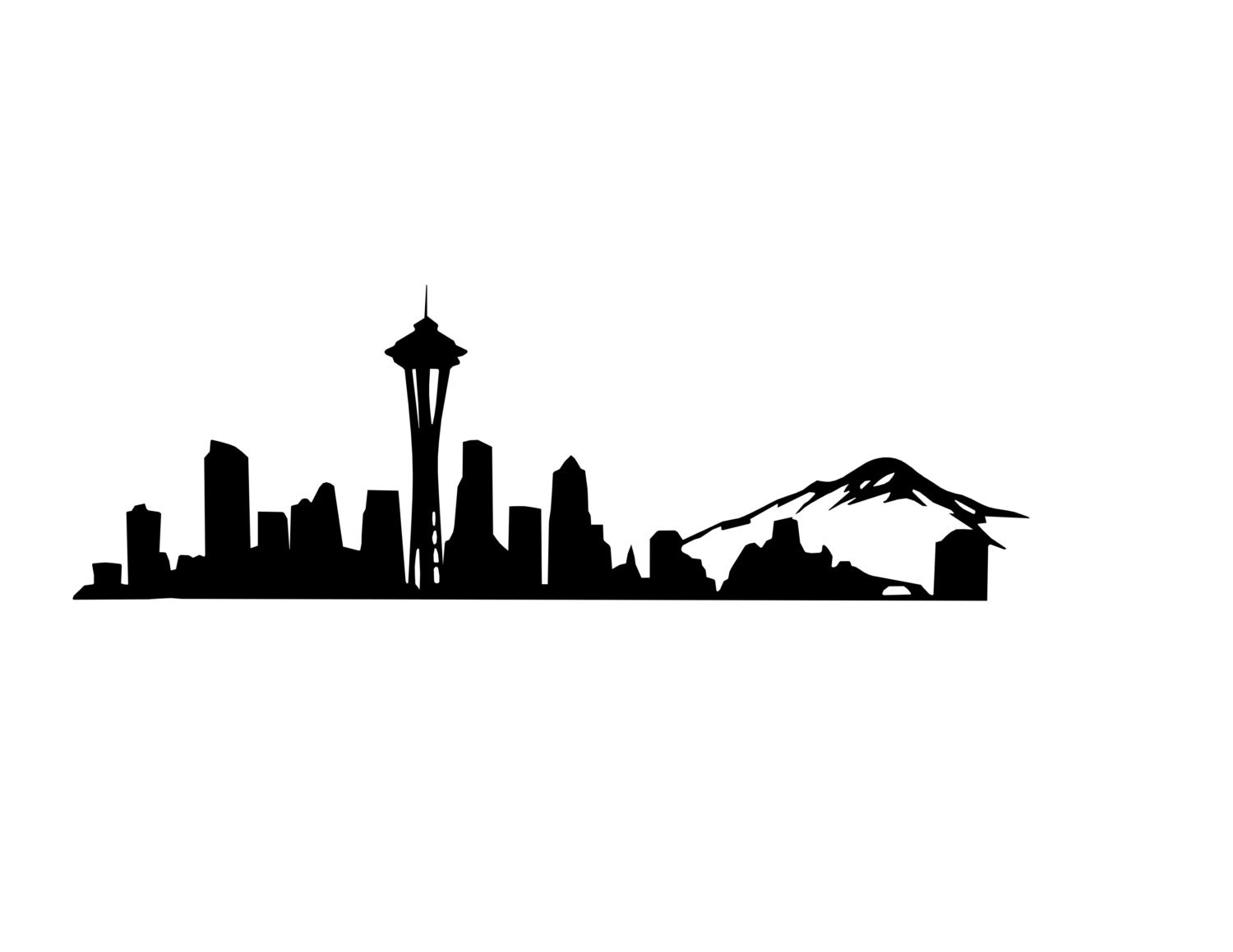 Seattle Skyline Decal Seattle Decal Space Needle