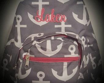 Anchor Backpack,anchor back pack, toddler backpack,monogrammed back pack,personalized back pack,backpacks,girl back packs,daycare bag,