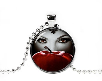 Photo Pendant Regina Necklace Once Upon a Time Pendant Evil Queen Regina Fangirl Fanboy