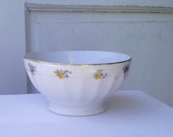 French vintage porcelain café au lait bowl