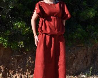 Roman dress, Roman tunic woman, Roman dress, historical commemoration