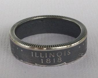 Silver Illinois State Quarter Ring