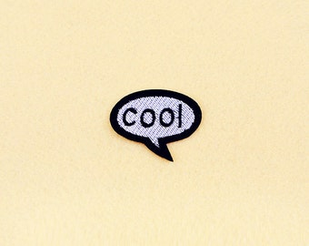 Cool Patch - Eye patch - Iron on patch -Sew On patch - Embroidered Patch (Size 5.3cm x 4.3cm)