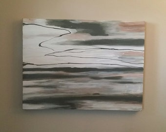 BLUR acrylic modern abstract original painting