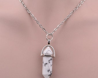 Marble Crystal Necklace