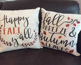 "Fall Pillow Cover 18x18""  Choose one Design"