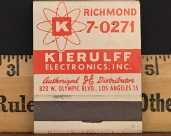 Vintage 1940s Matchbook for Kierulff Electronics