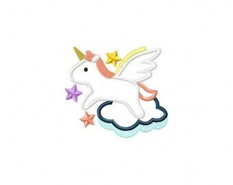 unicorn applique design, unicorn embroidery design, applique unicorn design, magical embroidery design, fairy tale embroidery design