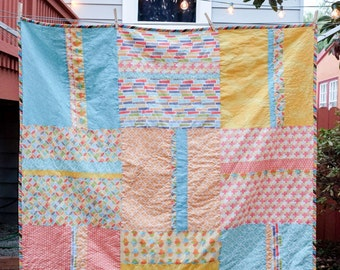 Large Modern Baby Quilt