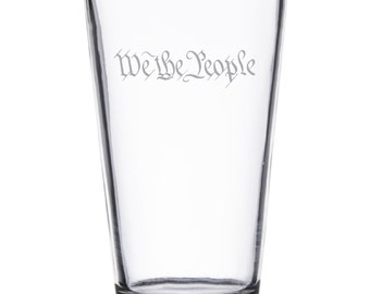 We the People - Pint Glass